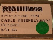 5995-01-248-7394 BAE Systems 10-124027-1 Cable Assy Radio