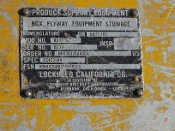 Lockheed BD77-101 Box, Flyway Equipment Stowage