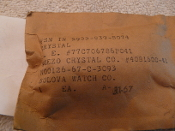 5955-00-839-8074 Piezo Crystal P/N4081600-41 Bulova Watch Co.