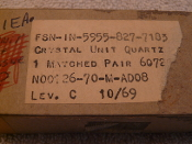 5955-00-827-7183 Crystal Unit,Quartz 77C709351PT1