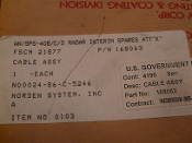Norden Systems Inc 168063 Cable Assy