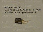 Motorola KXN6193 MT500 Receive Crystal 46.18 MHz